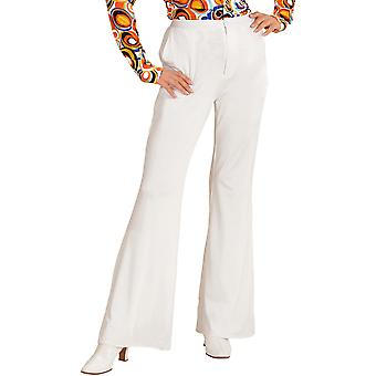 Women costumes  Hippie disco pants with elephant pipes in white