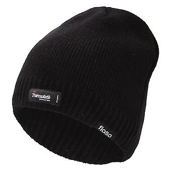 FLOSO Mens Plain Thinsulate Thermal Knitted Waterproof Winter Hat