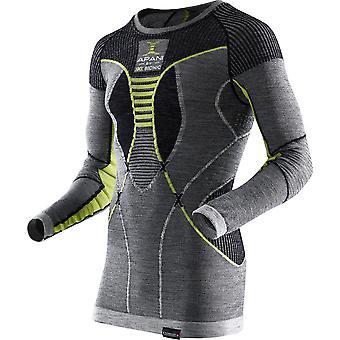 Apani mænd Merino langærmet skjorte - I100465-B064