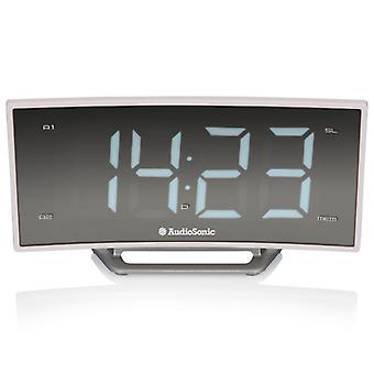 Audiosonic clock radio Arched display