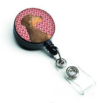 Carolines Treasures  SS4479BR Doberman  Retractable Badge Reel or ID Holder with