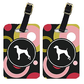 Carolines Treasures  KJ1063BT Pair of 2 Weimaraner Luggage Tags