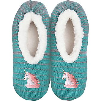 Novelty Slippers-Unicorn - Medium/Large KBWFS-51ML
