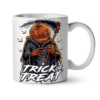 Jack Trick Treat NEW White Tea Coffee Ceramic Mug 11 oz   Wellcoda