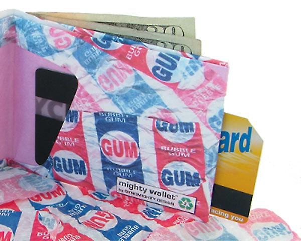 Bubble Gum Mighty Wallet Tyvek, Sterke Stealth Bi-Fold Wallet!