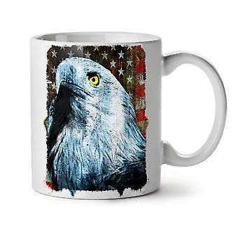 Eagle Flag Freedom USA NEW White Tea Coffee Ceramic Mug 11 oz | Wellcoda