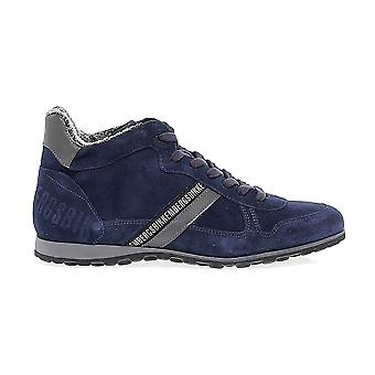 Bikkembergs men BKE108182 Blau suede of sneakers