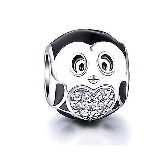 Charms 925 Silber Pinguin Bead