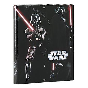 Safta Folio Cardboard Folder With Rubber Star Wars Vader