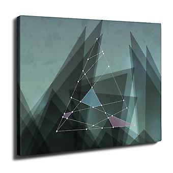 Triangle Lines Wall Art Canvas 50cm x 30cm | Wellcoda