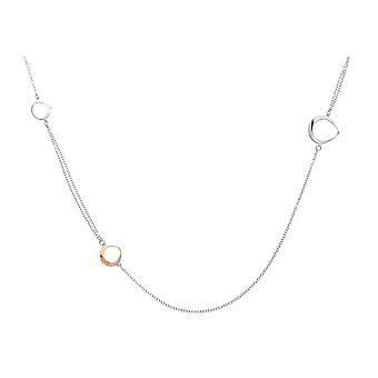 Orphelia argento 925 collana cerchi Bicolor ZK-7181
