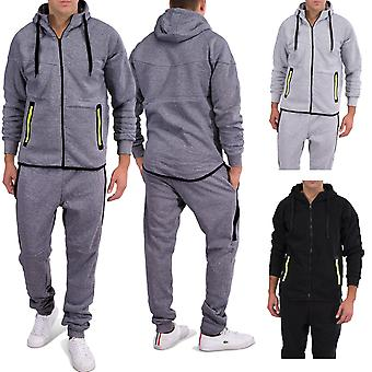 Men Jogging VIGOR Sportswear Fitness Soport Suit Tracksuit Neon