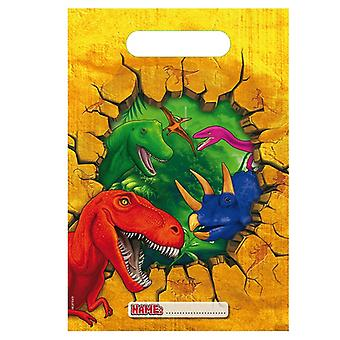 Party bags bags bag dinosaur Dino party birthday 6 pieces