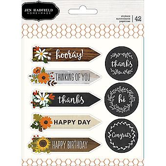 Jen Hadfield Warm & Cozy Cardstock Stickers
