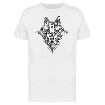 Ethnic Style Wolf Head Tee Men's -Image by Shutterstock
