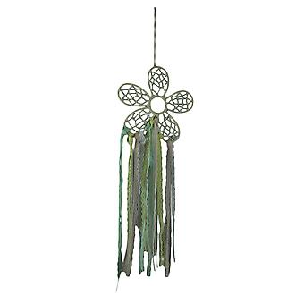 Retro Boho spets Fringe Hippie Flower Dream Catcher