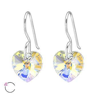 Heart Crystal From Swarovski® - 925 Sterling Silver Earrings - W27941x