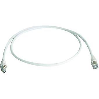 Telegärtner RJ45 Networks Cable CAT 6A S/FTP 0.25 m White Flame-retardant, Halogen-free