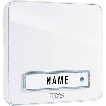 m-e modern-electronics KTA-1 W Bell panel with nameplate 1x White 12 V/1 A