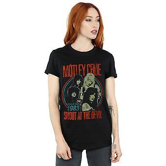 Motley Crue kvinnors Vintage ' 83 Shout At djävulen pojkvän Fit T-Shirt