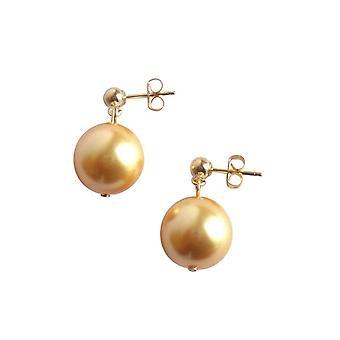 Perle øreringe guld tone perler shell Pearl øreringe forgyldt