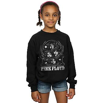 Pink Floyd Girls Distressed Faces Sweatshirt
