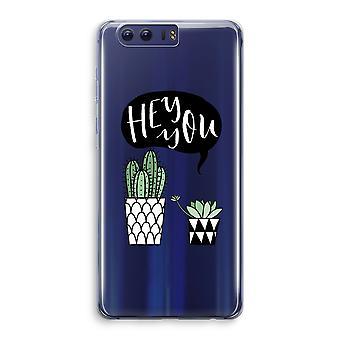 Honor 9 Transparant Case (Soft) - Hey you cactus