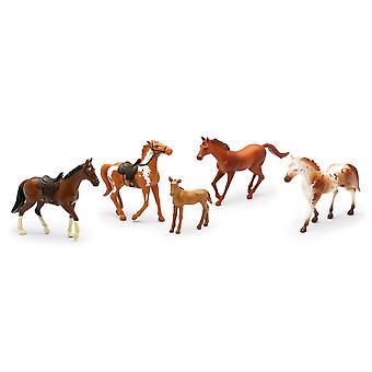 国生活ファーム動物セット、5 馬サドル (05593F) の有無