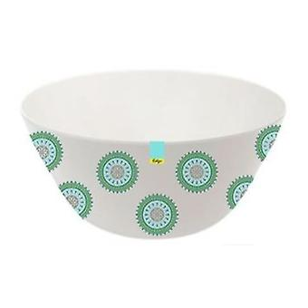 Green Patterned Melamine Abstract Summer - Bowl 6inch Camping Kitchen