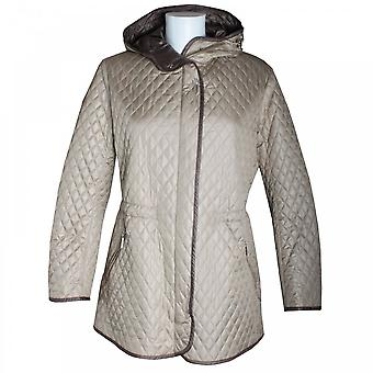 Eskey Women's Quilted Drawstring Belt Jacket