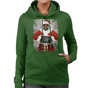 Christmas Mugshot Snoop Dogg Women's Hooded Sweatshirt