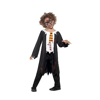 Zombie Student Costume, Halloween Child Fancy Dress, Small Age 4-6