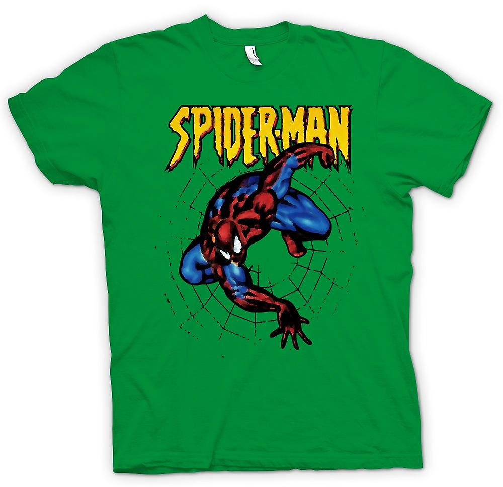 Héros de bande dessinée de mens T-shirt - Superman - Spiderman - Pop Art-