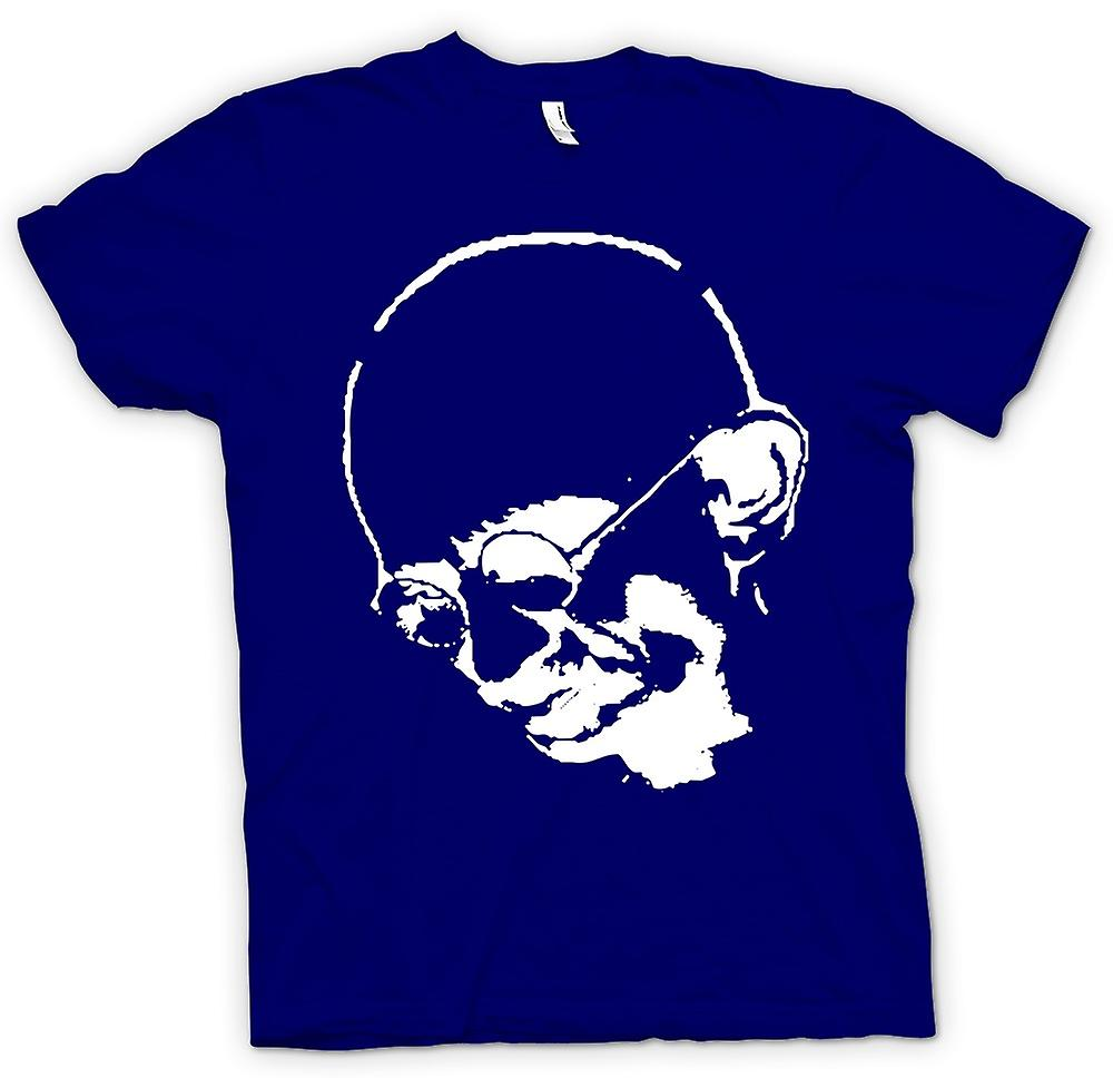 Mens T-shirt - Ghandi - Indian - Hippie - Frieden