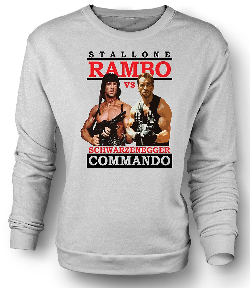 Mens Sweatshirt Rambo eller Commando - Action - helten