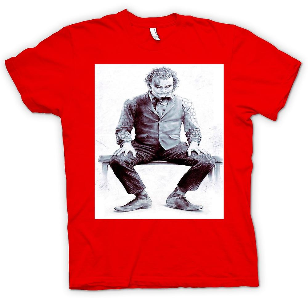 Mens T-shirt - Joker Sitting - Batman