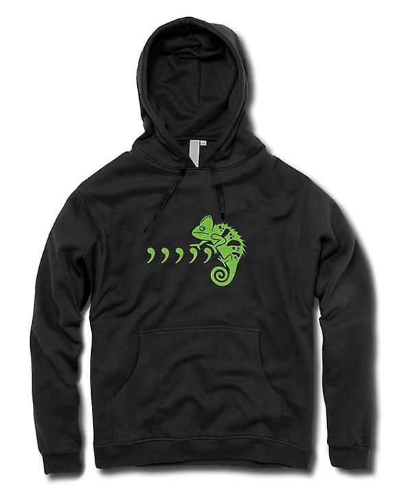 Kids Hoodie - Pet Iguana Lizard And Commas