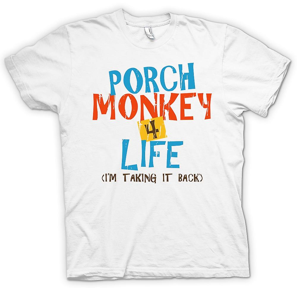 Womens T-shirt - Porch Monkey 4 Life - Clerks Inspired