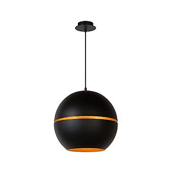 Lucide Binari Modern Round Metal Black Pendant Light