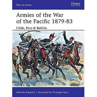 Arméer av kriga av Stillahavs 1879-83: Chile, Peru & Bolivia (rustningsförsedda (Osprey))