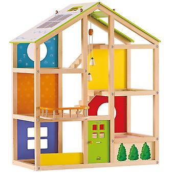Jeu d'imitation enfant jeux jouets Maison de poupée toute saison non meublée 0102099