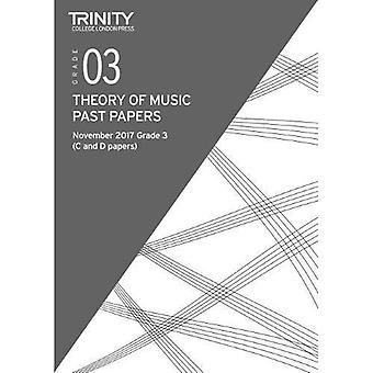 Trinity College London: Past Papers: Theory (Nov 2017) Grade 3