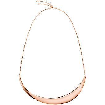 Calvin Klein Groovy oro rosa acero inoxidable damas gargantilla collar KJ8QPJ100100