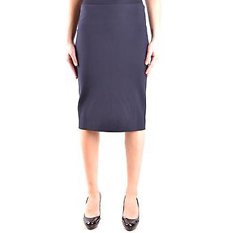 Armani Jeans Blue Polyester Skirt