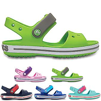 Unisex Kids Crocs Crocband Sandal Lightweight Cut Out Flat Open Toe Shoes