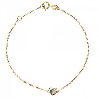 Bracelet Vertigo LOVE ME-OR JAUNE - Bracelet Acier Diamant Jaune Femme