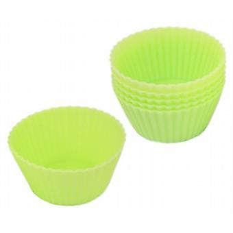 Siliconen Cup Cake Case baseert groene Pack van 24