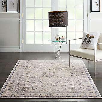 Silky Textures SLY08 Ivory Grey  Rectangle Rugs Modern Rugs
