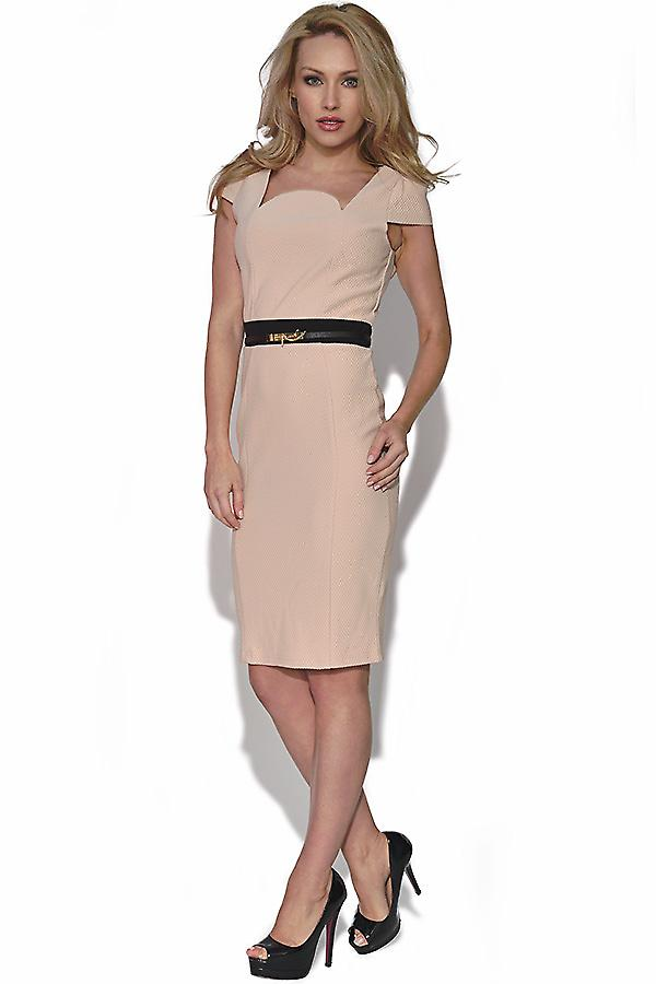 Lusinghiero crema Cap Sleeve Dress