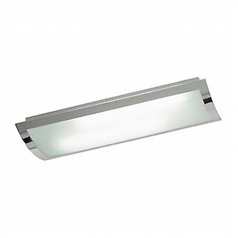 Endon 1405-67-PLCH Bay Frosted Glass Ceiling Kitchen Flush Light